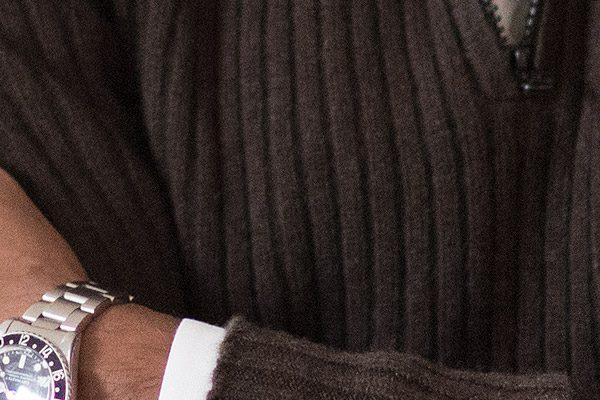 Klassischer Herren-Pullover mit Reißverschluss – 100% mongolische Yakwolle